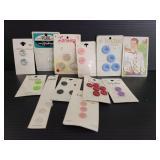 Vintage buttons partial cards