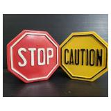 Stop and caution sign coin banks