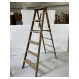 Old 6 foot wooden ladder