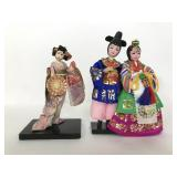 Vintage handcrafted Japanese Geisha dolls