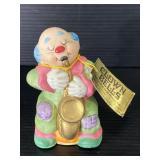 Genuine bisque porcelain clown bell - Jasco