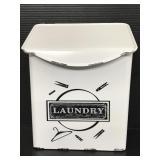 """Laundry"" metal powder detergent wall holder"