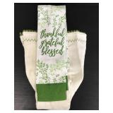 Brownlow green and white kitchen scarf