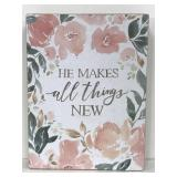 Primitives by Kathy floral wooden sign