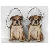 Primitives by Kathy bulldog wall hangers