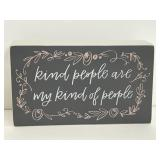 """Primitives by Kathy """"Kind People"""" box sign"""