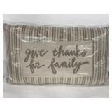 """Sealed Primitives by Kathy """"Give Thanks"""" pillow"""