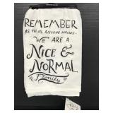 """Primitives by Kathy new """"Normal Family"""" dish towel"""