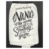 "Primitives by Kathy new ""Nana spoiling"" dish towel"