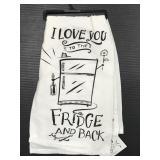"Primitives by Kathy new ""Fridge"" funny dish towel"