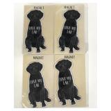 Primitives by Kathy new black Lab Dog magnets