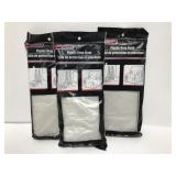 Tool bench plastic drop cloth 3 pack set