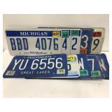 10 license plate set