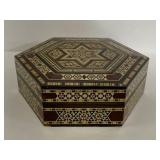 Octagon box w/ micro wood inlay design