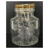 """Crownford large clear glass """"Cookies"""" jar"""