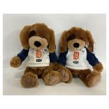 Pair of Detroit Tigers MLB puppy dog stuffies