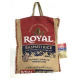 Vintage Royal Basmati burlap rice bag