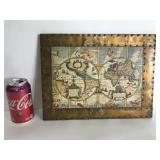 Vintage astrological map print made in Italy