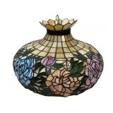 Rose pattern pattern stained slag glass chandelier