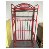 Red metal Coca-Cola display stand rack