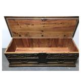 Lane cedar lined rolling chest trunk on casters