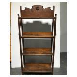 Antique Romeo, MI general store wood display rack
