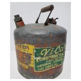 Vintage 5 gal Eagle metal gas can