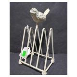 Metal bird mail holder