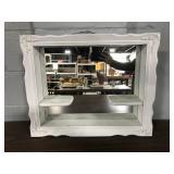 Mirrored white wood shadow box
