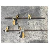 Pair of Quick Grip bar clamps - 32 inch