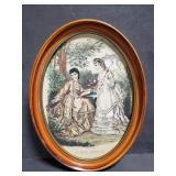La Mode Illustrée oval framed art