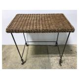 Wicker top end table