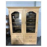 Two piece Ethan Allen music cabinet