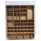Primitive wood shadow box shelf