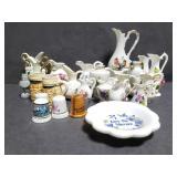 Collection of mini pitchers/knickknacks