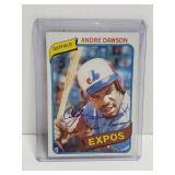 1980 autographed Andre Dawson baseball card