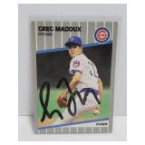 1989 autographed Greg Maddux baseball card