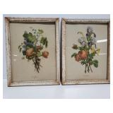 Small framed floral prints