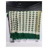 Vintage embroidered throw blanket