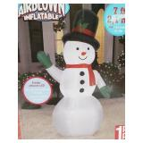 Airblown inflatable 7ft snowman