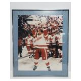 Framed Red Wings Stanley Cup picture
