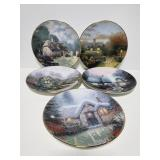 Five Thomas Kinkade collectors plates