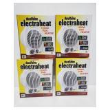 Four Duraflame electraheat 1500w fan heaters