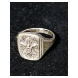 Vintage sterling Boy Scout ring