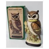 Osamu ceramic great horned owl figure