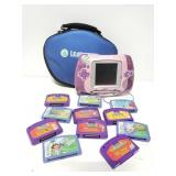 Leap Frog gaming system with games & case