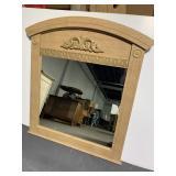 Large ash wood mirror