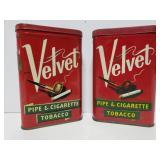 Vintage Velvet Tobacco tins
