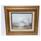 Framed and Signed wildlife painting
