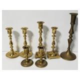 Brass candlesticks collection